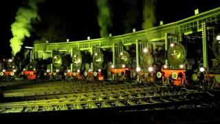 "Dampfspektakel 2010 - ""Abschluss-Pfeif-Konzert"" der Nachtparade im Lokschuppen Gerolstein"
