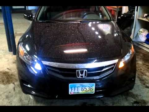 2011 Honda Accord Coupe Hid Switchback Led Lights Youtube