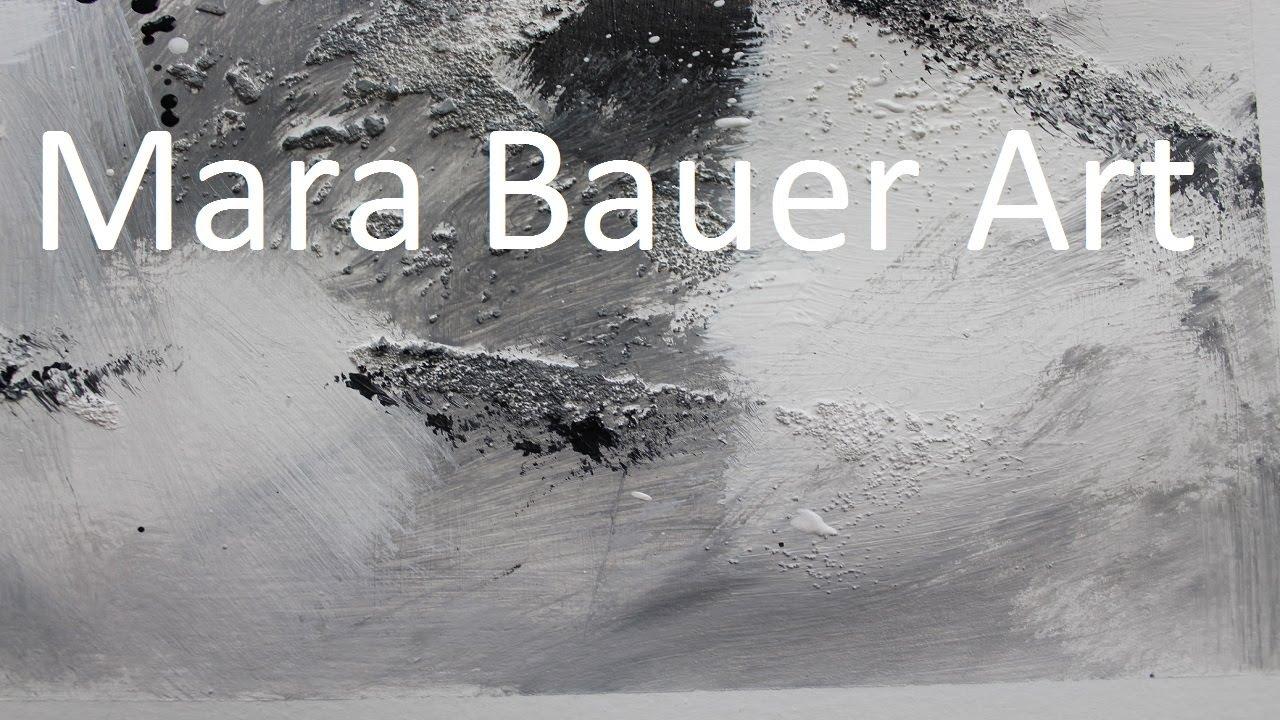 acrylic painting black and white  acrylbild schwarz und