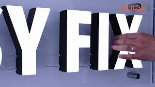 easy fix-Acrylic illuminated letter installation