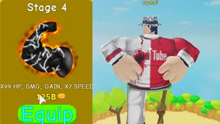 I Got to stage 4 in lifting simulator (Roblox)