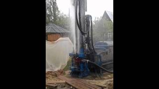видео бурение на воду московская область