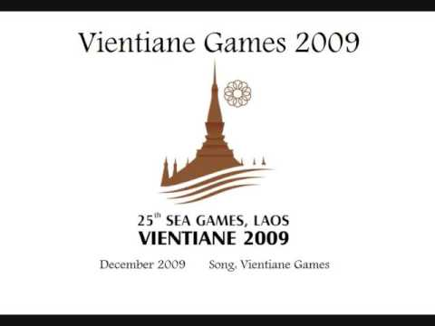 (with karaoke lyrics) SEA Games 2009 Vientiane Song (sung by Buratino)