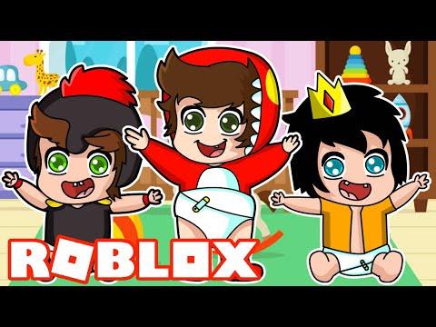 Nos Convertimos En Bebe Compas En Roblox Youtube