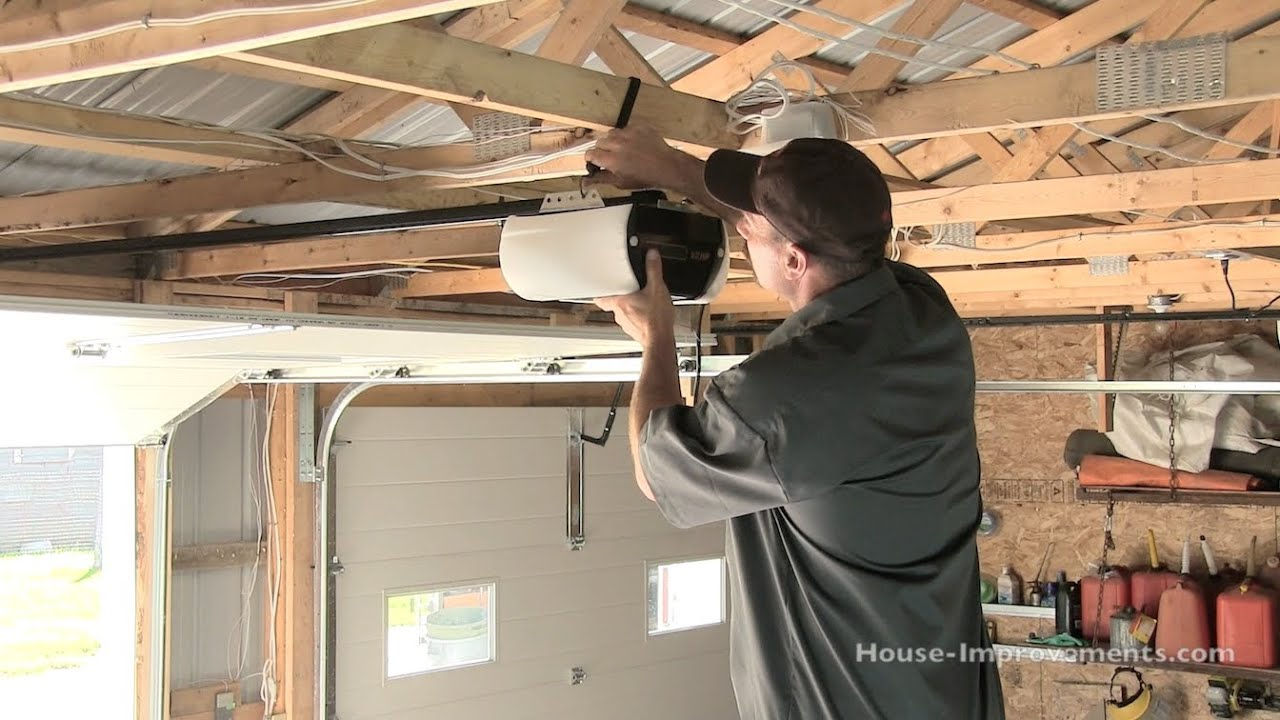 how to install a garage door opener youtube