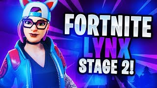 "Fortnite: Season 7 ""LYNX"" Skin Stage 1 Gameplay! (NEW UPDATE)"