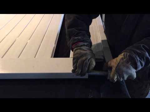 HOW TO ASSEMBLE VINYL PRIVACY GATE WITH STEEL FRAME