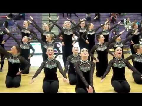 Drill team: Riverton Silverwolves dance routine.