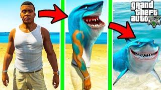 SHINCHAN & FRANKLIN Fight SEA MONSTERS to Become TITAN GIANT SHARK FISH ( GTA 5 MODS )