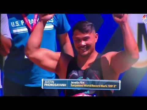 Justin Phongsavanh F54 javelin world record