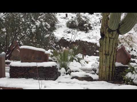 Fountain Hills, AZ Rare Snow Cover - 2/22/2019