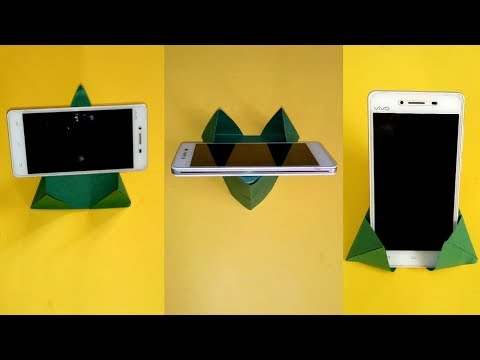 How To Make Paper Mobile Stand Without Glue || Origami Mobile Holder