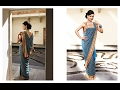 How to drape wear saree of flat front pallu with thin pleats perfectly