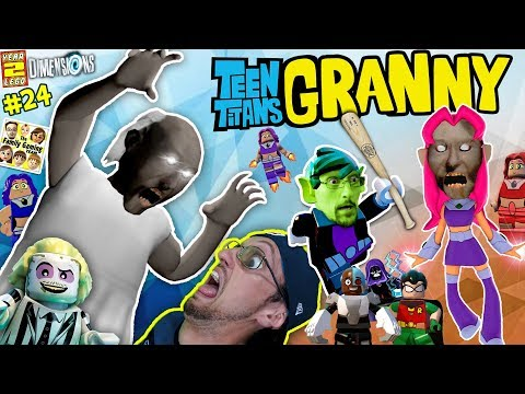 GRANNY Plays LEGO w/ FGTEEV!  TEEN TITANS GO Stop Wicked Starfire! (LEGO DIMENSIONS Year 2 #24)