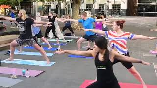 Summer Stretch in the city: Free yoga in Garema Place, Canberra