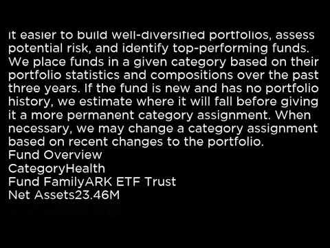 ARKG ARK Genomic Revolution Multi Sector ETF ARKG buy or sell Buffett read basic