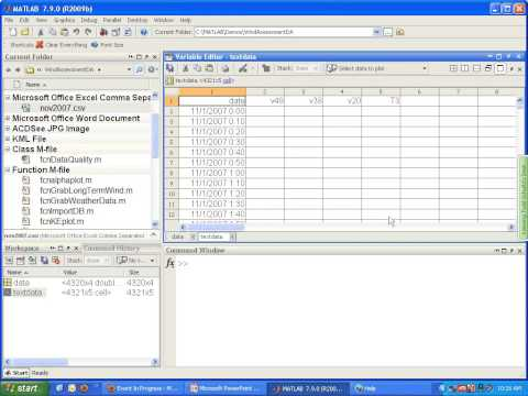 Wind Resource Assessment,Data Analysis Using MATLAB
