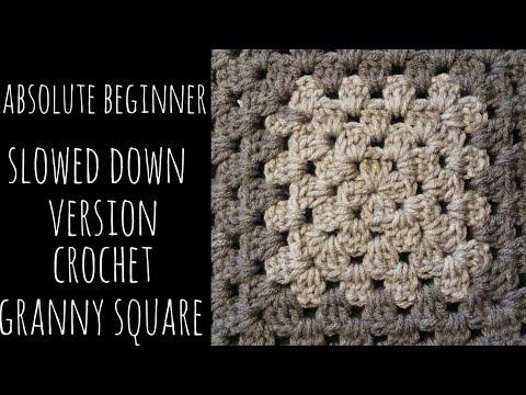 Crochet Granny Square Absolute Beginner Youtube