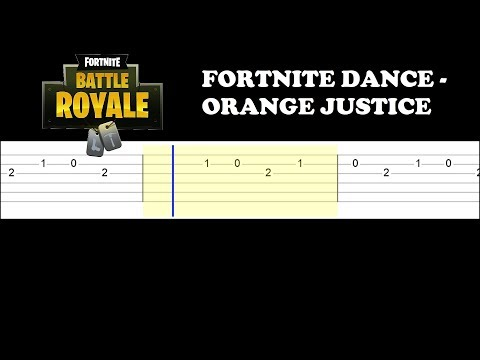 Fortnite Dance - Orange Justice (Easy Guitar Tabs Tutorial)