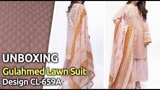 New GULAHMED Designer Lawn Suit 2019   Unbox   Latest Pakistani Dress Design CL-659A
