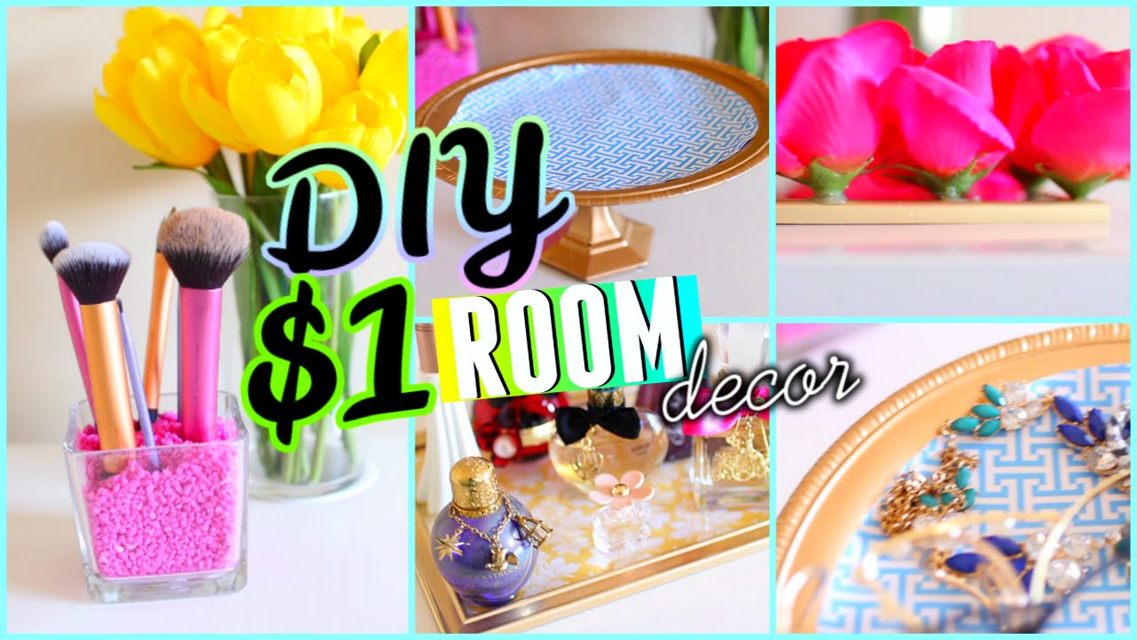 DIY Dollar Store Room Decor & Organization! 2015 Cute