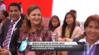 DESFILE ESCOLAR VICTOR LARCO FIESTAS PATRIAS
