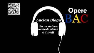 Lucian Blaga - Eu nu strivesc corola de minuni a lumii | Modernism