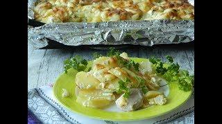 Картошка с филе курицы в духовке