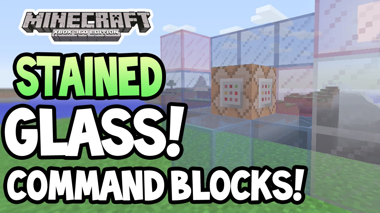 how to make stained glass windows in minecraft xbox 360