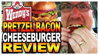 Wendy's Pretzel Bacon Cheeseburger Review And Drive Thru Test