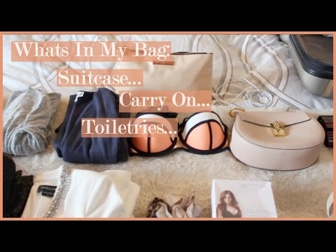 Whats In My Bag... Suitcase Edition    Las Vegas