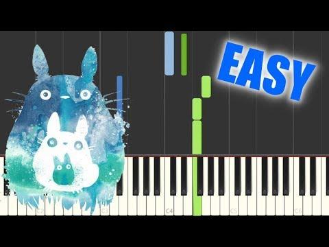 Path of The Wind - Joe Hisaishi [Synthesia EASY Piano Tutorial] / 久石 譲 - 風のとおり道【ピアノ簡単】となりのトトロ