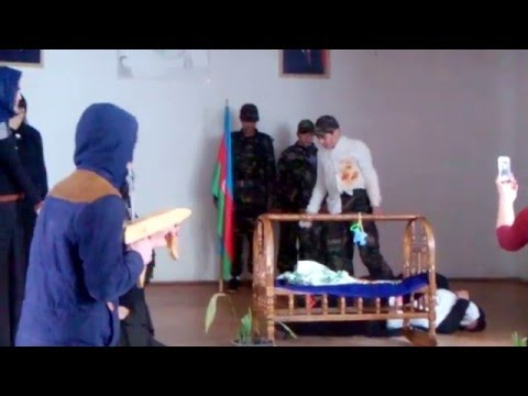 Xocali Soyqirimi - 2016 / Paşan kənd tam orta məktəbi şagirdlərin haziladigi sehnecik