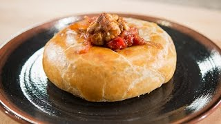 Baked Camembert Cheese with Tomato Chutney and Candied Walnuts