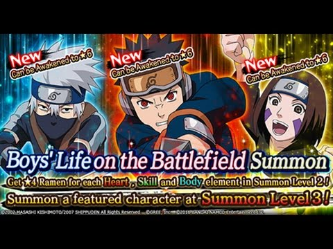 INSANE LUCK!?! 400+ PEARL SUMMONS!! New 6* Kid Kakashi, Obito, & Rin!  Naruto Shippuden Ninja Blazing