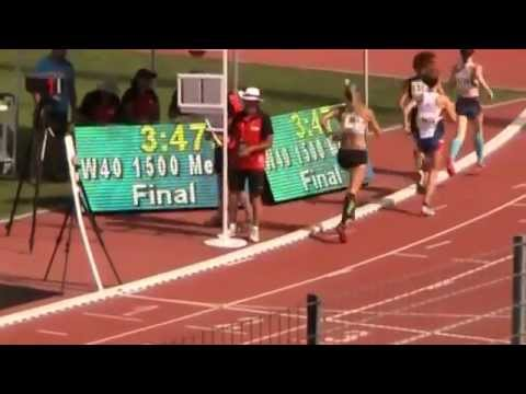 Video of Jennifer St. Jean in the women's (40-44) 1,500-meter race.