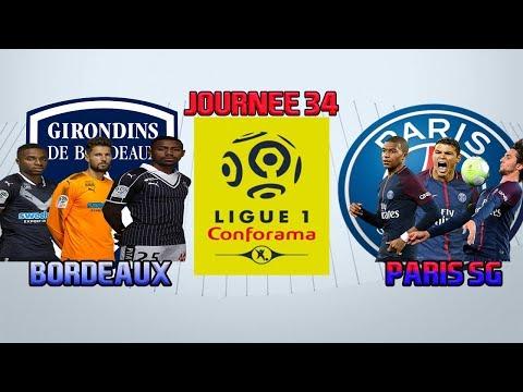 BORDEAUX 🔵⚪️ -PARIS SG🔵🔴 [FIFA18] | LIGUE1 CONFORAMA 2017/2018 (34éme journée) (FR) (HD)