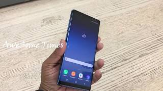 Samsung Note 8 Blue unboxing/Samsung Galaxy Note8: Official Introduction from AweSome Times