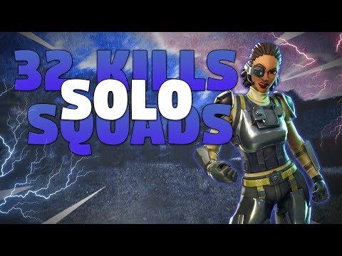 32 Kills Solo Squads - Fortnite Battle Royale Gameplay