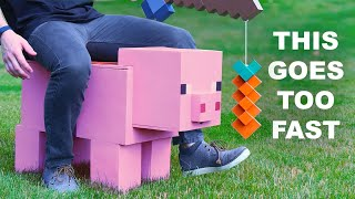 I Made the Fastest Rideable Minecraft Pig