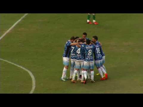Gimnasia (J) 1 Estudiantes (San Luis) 0. Gol de Auzqui de tiro libre