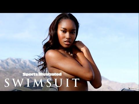 Demaris Lewis Rides A Plane Topless In Palm Springs | Sports Illustrated Swimsuit