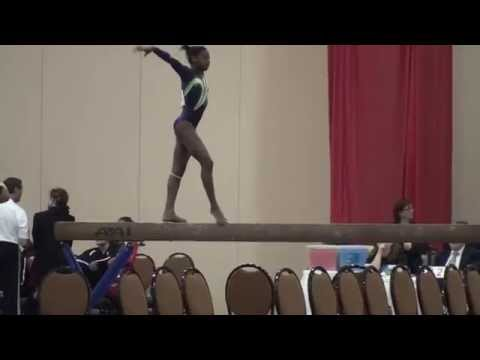 Adria Biles Beam at 2014 Kurt Thomas