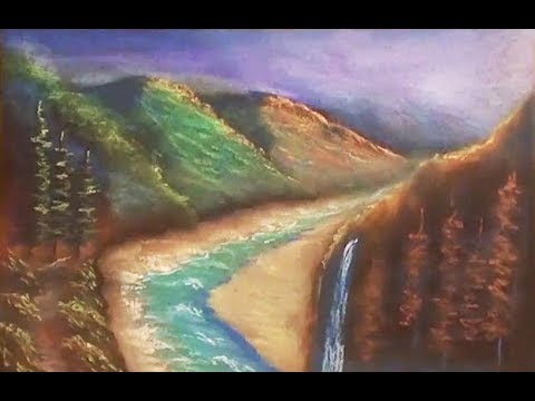 how to use soft pastels for beginners | A Landscape hill area | Drawing Tutorial