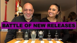 Battle of New Releases Sauvage Parfum, Invictus Aqua 2018, and Acqua di Gio Absolu with Aisha