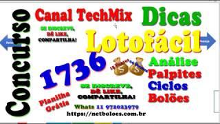 Análise Lotofácil 1736 Com Dica e Palpites   Mega da Virada Disponivel no Site