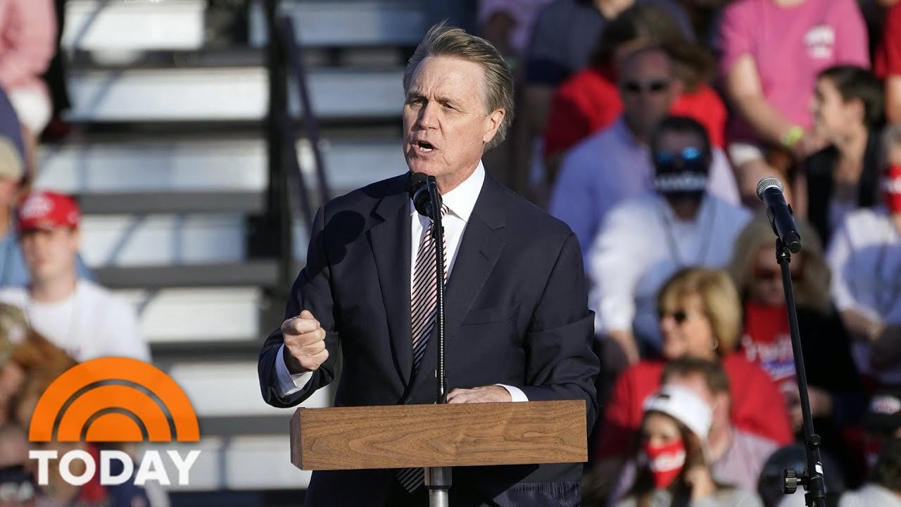 Sen. David Perdue Mocks Kamala Harris' Name at Trump Rally