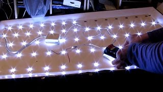 DIY: Home Made LED TV Backlight panel salvaged from broken LED TV