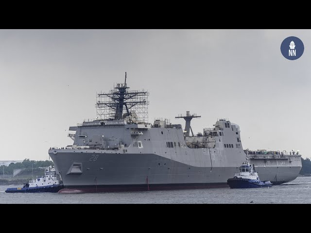 HII Launched the Future USS Fort Lauderdale (LPD 28) for the U.S. Navy
