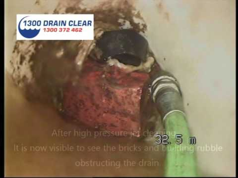 1300 Drain Clear CCTV drain camera inspection footage